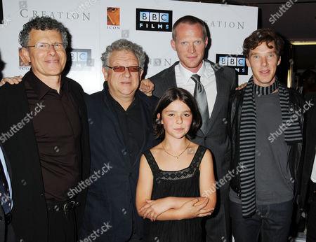 Premiere of 'Creation' at the Curzon Cinema Mayfair Director Jon Amiel Producer Jeremy Thomas Martha West Paul Bettany and Benedict Cumberbatch
