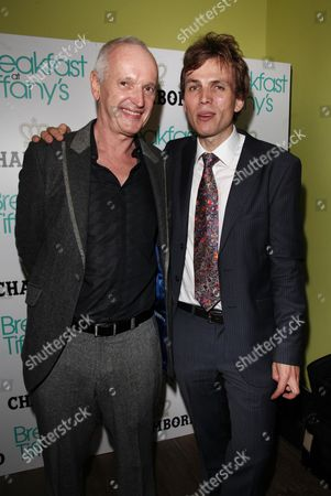 Stock Picture of Press Night Afterparty For 'Breakfast at Tiffany's' at Haymarket Hotel Director Sean Mathias and Samuel Adamson