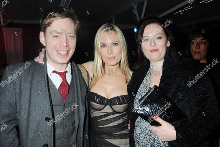 Press Night Afterparty For 'Love Never Dies' at the Old Billingsgate Market Nicholas Lloyd Webber with His Wife Charlotte Windmill and Sister Imogen Lloyd Webber