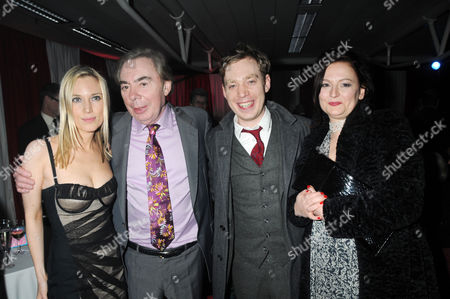 Press Night Afterparty For 'Love Never Dies' at the Old Billingsgate Market Lord Andrew Lloyd Webber with His Son Nicholas Lloyd Webber and His Wife Charlotte Windmill and Daughter Imogen Lloyd Webber