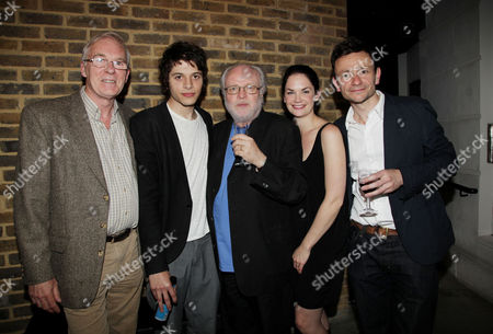 Press Night Afterparty For 'Through A Glass Darkly' at the Almeida Islington Cast: Ian Mcelhinney Dimitri Leonidas Ruth Wilson and Justin Salinger with the Director Michael Attenborough