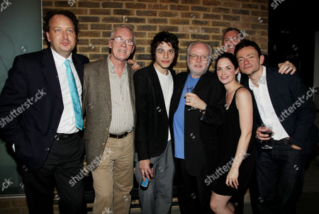Press Night Afterparty For 'Through A Glass Darkly' at the Almeida Islington Cast: Ian Mcelhinney Dimitri Leonidas Ruth Wilson and Justin Salinger with the Director Michael Attenborough and Producers Gary Mcquinn and Andrew Higgie (l)