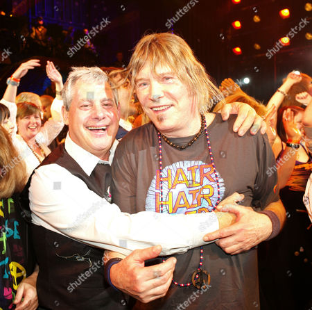Press Night Curtain Call For 'Hair' at the Gielgud Theatre Cameron Mackintosh with One of the Original Writers James Rado