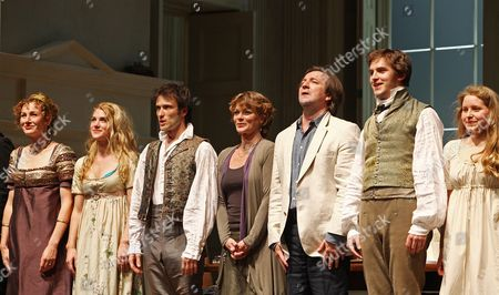 Press Night For 'Arcadia' at the Duke of York's Theatre and Afterparty at Jewel Covent Garden Curtain Call - Trevor Cooper Nancy Carroll Lucy Griffiths Ed Stoppard Samantha Bond Neil Pearson Dan Stepehns and Jessie Cave