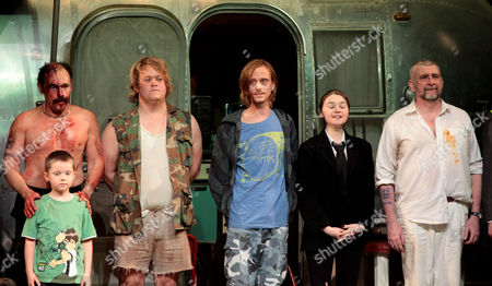 Press Night For 'Jerusalem' at the Apollo Theatre and Afterparty at Cafe De Paris Curtain Call - Mark Rylance Lennie Harvey Danny Kirrane Mackenzie Crook Jessica Barden and Gerard Horan