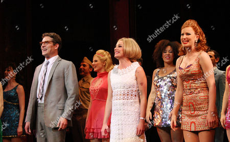 Press Night For 'Sweet Charity' at the Theatre Royal Haymarket Curtain Call - Mark Umbers Tamzin Outhwaite and Tiffany Graves