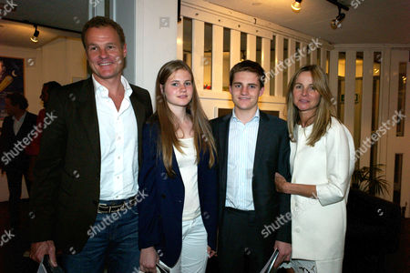 Press Night of 'As I Like It' at the Chelsea Theatre & Amanda Eliasch's Cheyne Walk Chelsea Home Jonathan Harmsworth 4th Viscount Rothermere & His Wife Lady Claudia Rothermere and Their Children