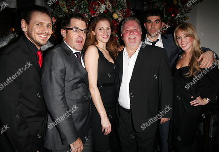 Press Night Party For 'A Christmas Carol' at the Arts Theatre Great Newport Street Brian Herring (puppeteer) Michael Matus Rebecca Thornhill Gareth Hale Simon Lipkin and Erin Lister (puppeteer)