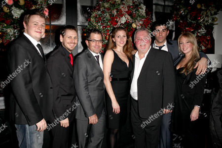 Press Night Party For 'A Christmas Carol' at the Arts Theatre Great Newport Street Adam Dutton Brian Herring (puppeteer) Michael Matus Rebecca Thornhill Gareth Hale Simon Lipkin and Erin Lister (puppeteer)