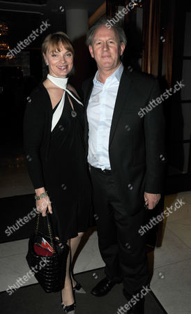 Press Night Party For What the Butler Saw at the Waldof Hotel Aldwych London Peter Davison and Elizabeth Morton