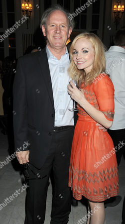 Press Night Party For What the Butler Saw at the Waldof Hotel Aldwych London Peter Davison and His Daughter Georgia Moffett
