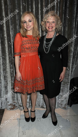Press Night Party For What the Butler Saw at the Waldof Hotel Aldwych London Georgia Moffett with Her Mother Sandra Dickinson