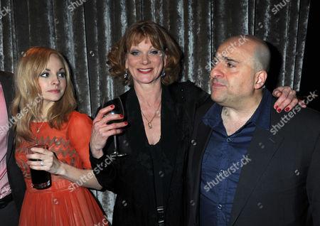 Press Night Party For What the Butler Saw at the Waldof Hotel Aldwych London Georgia Moffett Omid Djalili & Samantha Bond