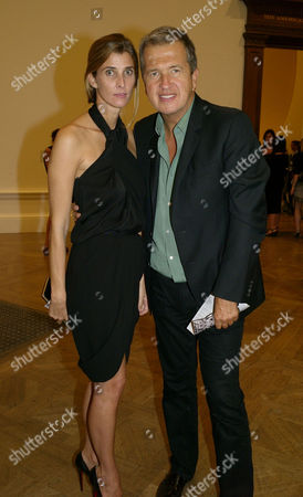 Private View at the Royal Academy of Arts Piccadilly London Princess Rosario of Bulgaria with Mario Testino