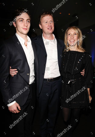 Quintessentially Host the Uk Premiere of 'Nowhere Boy' at Bafta Piccadilly Aaron Johnson and Sam Taylor Wood with the Screenwriter Matt Greenhalgh