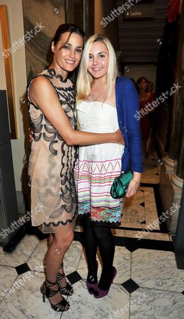 Stock Image of Royal Academy of Arts Summer Exhibition 2009 'Making Space' Preview Party at the Raa Piccadilly Yasmin Le Bon with Her Daughter Saffron Le Bon