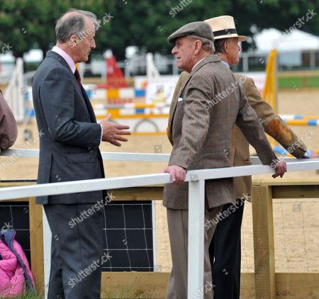 Royal Windsor Horse Show Thursday Lord Brabourne & the Duke of Edinburgh