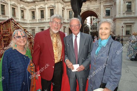 The Royal Academy of Arts Summer Exhibition Private View at the Raa Piccadilly London Alwyn & Rolf Harris with Lord & Lady Carrington