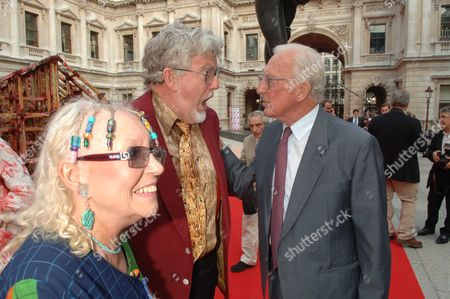 The Royal Academy of Arts Summer Exhibition Private View at the Raa Piccadilly London Rolf Harris & Lord Carrington