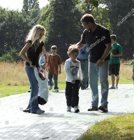 Russell Crowe and His Family Leave Kensington Gardens After Seeing Peter Pan Saturday Afternoon
