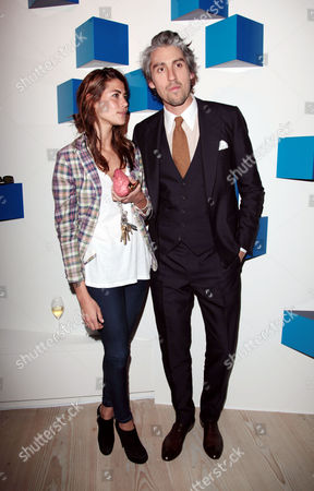 Samsung Celebration of 3d Tv at the Saatchi Gallery Kings Road George Lamb with His Girlfriend Karima Adebibe