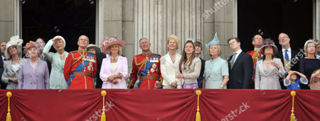 Scenes in the Mall During Trooping of the Colour Prince Edward Earl of Essex Sophie Countess of Wessex Queen Elizabeth Ii Prince Michael of Kent Princess Michael of Kent Prince Philip Duke of Edinburgh Camilla Duchess of Cornwall Charles Prince of Wales Lady Helen Taylor the Duchess of Kent and the Earl and Countess of St Andrews