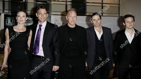 Screening of 'New Town Killers' As Part of the Bfi London Film Festival at the Odeon Westend Claire Forlani and Dougray Scott with Director Richard Jobson Alastair Mackenzie and James Anthony Pearson
