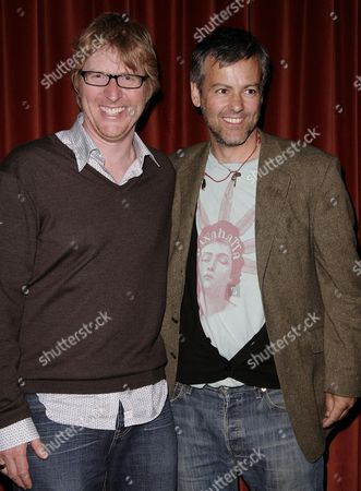Screening of 'The Waiting Room' at the Rex Cinema Roger Goldby (c) and Rupert Graves (r)