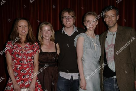 Screening of 'The Waiting Room' at the Rex Cinema Zoe Telford and Anne-marie Duff with the Producer Director Roger Goldby (c) and Rupert Graves (r)