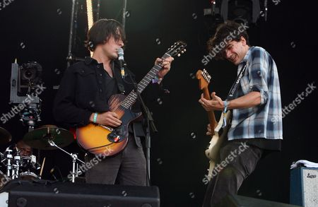Stock Image of Second Day of the 02 Wireless Festival at Hyde Park Dirty Pretty Things - Didz Hammond Anthony Rossomando
