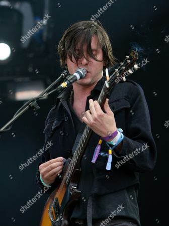 Stock Picture of Second Day of the 02 Wireless Festival at Hyde Park Dirty Pretty Things - Didz Hammond