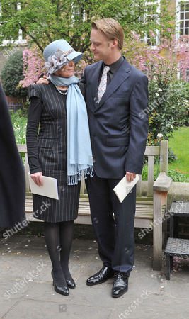Service of Thanksgiving at St Pauls Church Covent Garden Rhys William Cazenove with His Mother Angharad Rees