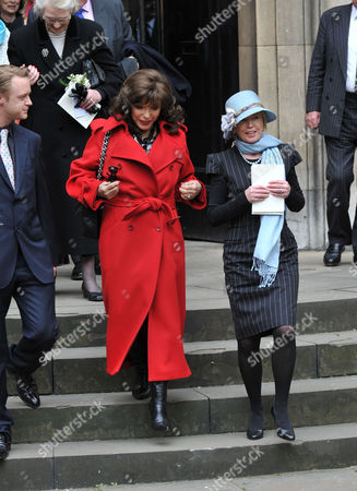 Stock Image of Service of Thanksgiving at St Pauls Church Covent Garden Rhys William Cazenove Joan Collins and Angharad Rees