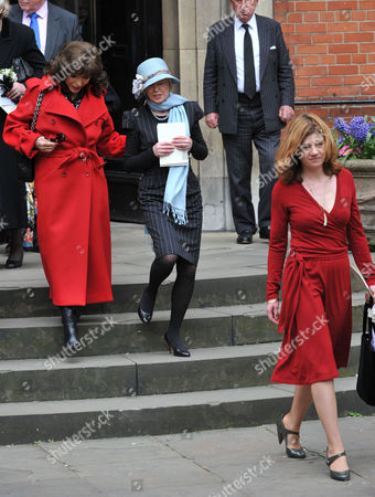 Stock Picture of Service of Thanksgiving at St Pauls Church Covent Garden Joan Collins Angharad Rees and Isabel Davis