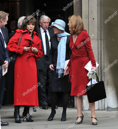 Service of Thanksgiving at St Pauls Church Covent Garden Joan Collins Angharad Rees and Isabel Davis