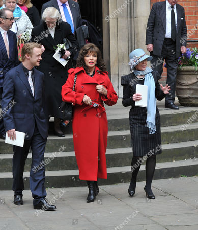 Service of Thanksgiving at St Pauls Church Covent Garden Rhys William Cazenove Joan Collins and Angharad Rees