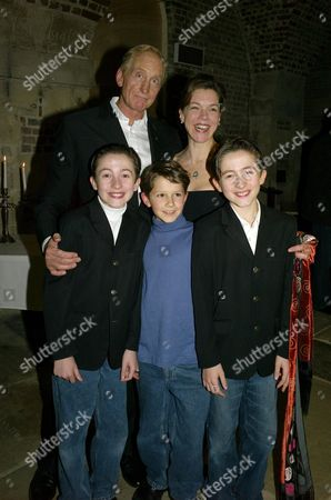 Shadowlands 1st Night Party at the Crypt at St Martin-in-the-fields in Trafalgar Square Janie Dee and Charles Dance with Christian Lees Adam Megginson and Johan Lees