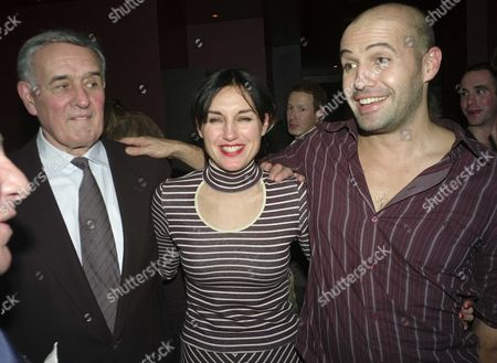 1st Night of Six Dance Lessons in Six Weeks Theatre Royal Haymarket London Curtain Calls and After Party at Suzie Wong Old Compton Street London Billy Zane with His Sister Lisa Zane & Their Father George Zane
