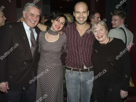 1st Night of Six Dance Lessons in Six Weeks Theatre Royal Haymarket London Curtain Calls and After Party at Suzie Wong Old Compton Street London Billy Zane with His Sister Lisa Zane & Their Parents George & Tahlia Zane
