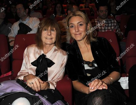 Stock Image of Special Screening of Slumdog Millionaire For Filmaid International at Bafta Piccadiily London Making the 60th Anniversary of the Universal Declaration of Human Rights Dixie Chassay with Her Mother