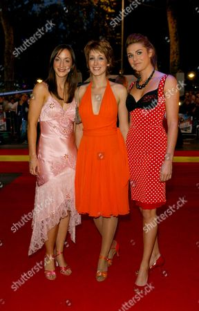 Gala Celebrity Premiere of 'Talladega Nights' at the Empire Leicester Square Helena Blackman Connie Fisher and Siobhan Dillon