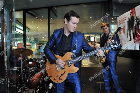 Telstar Live Performance of Songs From the Film at the Vue Cinema Leicester Square London Nick Moran Matthew Baynton