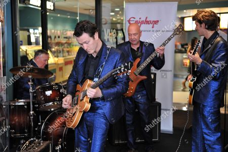 Telstar Live Performance of Songs From the Film at the Vue Cinema Leicester Square London Clem Cattini Nick Moran Matthew Baynton