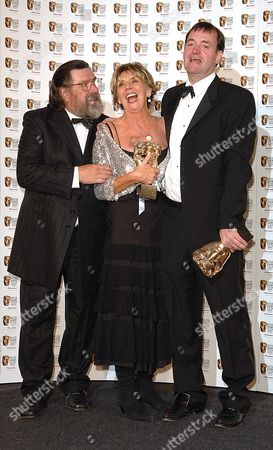 2007 Bafta Television Awards Press Room at the London Palladium Best Situation Comedy - the Royale Family Sue Johnston Ricky Tomlinson and Craig Cash