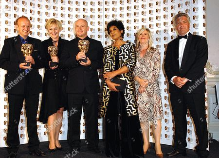 2007 Bafta Television Awards Press Room at the London Palladium Best Factual Series - Ross Kemp On Gangs Clive Tulloh Amelia Hann Ross Kemp Jacquie Lawrence Andrew O'connell and Presenter Moira Stewart