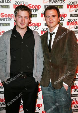 the 2007 Inside Soap Awards at Gilgamesh Chalk Farm Matt Littler and Darren Jeffries (hollyoaks)