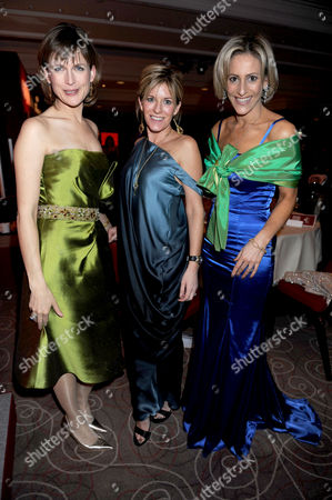 The 2008 Costa Book Awards at the Intercontinental Hotel Hamilton Place London Katie Derham Andrea Catherwood & Emily Maitlis