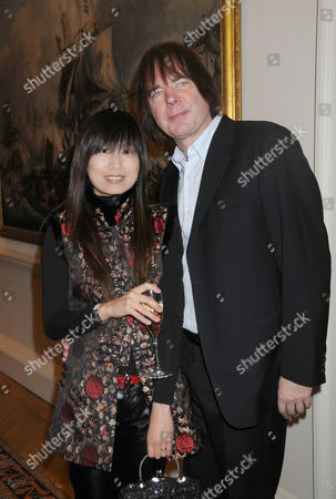 The 2010 Foundling Museum Fellows Announcement at the Foundling Museum Brunswick Square London Julian Lloyd Webber with His Wife Kheira Bourahla