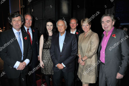 The Angel Awards at the Palace Theatre Charing Cross Road London Lord Melvyn Bragg Charles Moore Danielle Hope Michael Winner Simon Thurley Ceo of English Heritage Clare Balding & Lord Andrew Lloyd Webber