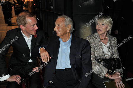 The Angel Awards at the Palace Theatre Charing Cross Road London Simon Thurley Ceo of English Heritage & Michael Winner and His Wife Geraldine